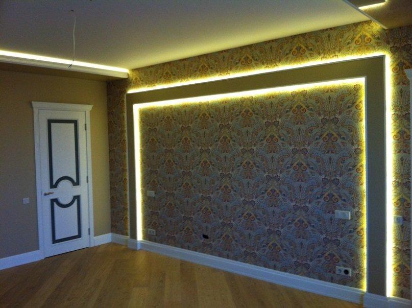 Светодиодная подсветка стен своими руками 886