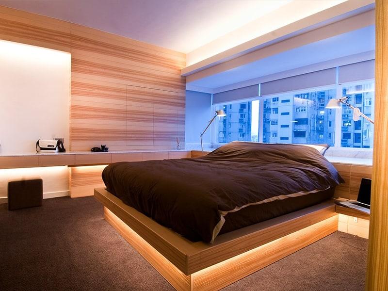 Деревянная мебель с подсветкой
