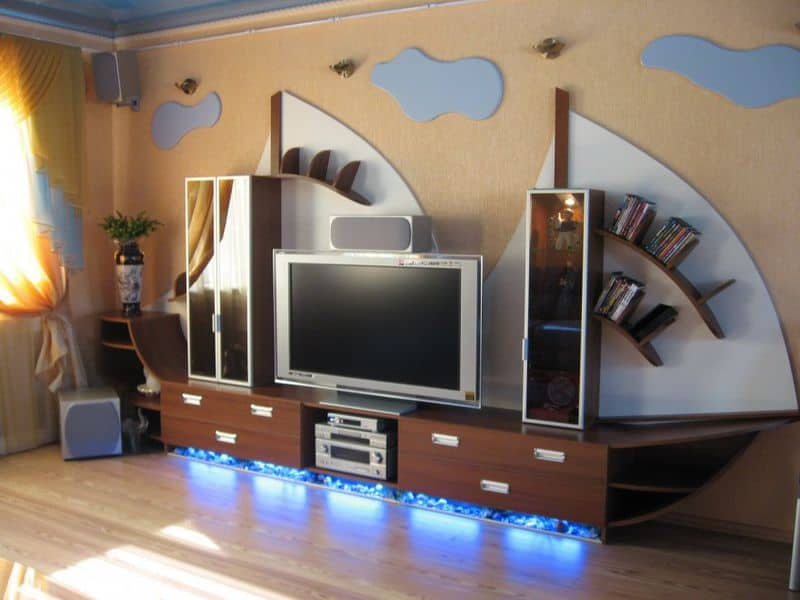 Подсветка мебели светодиодной лентой